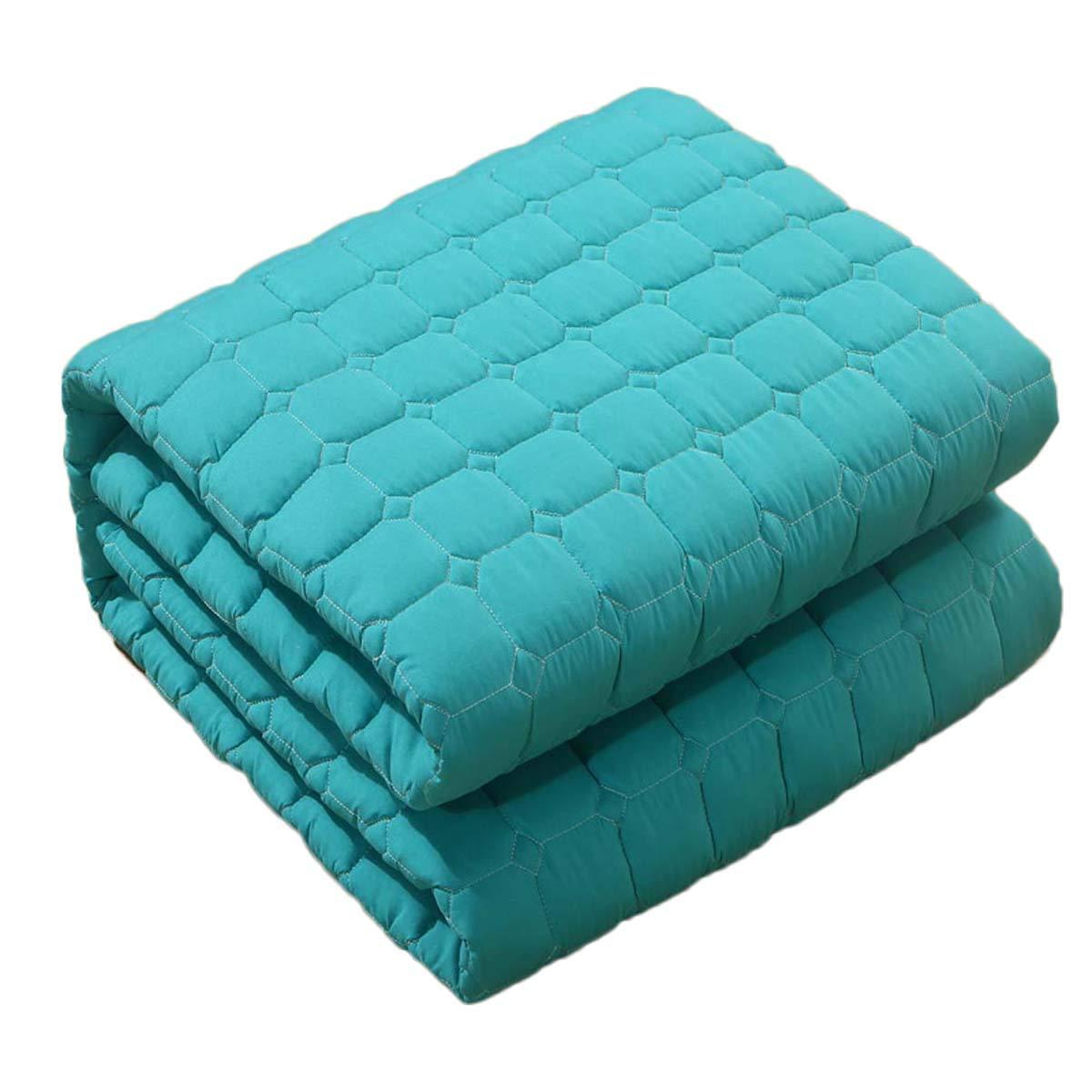 LYBFNN Futon Furniture Traditional Japanese Floor Futon Mattresses, Foldable Cushion Mats, Yoga, Meditaion Single Double Size,E:Blue,120200cm by LYBFNN