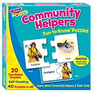 Trend Enterprises Community Helpers Fun-to-Know Puzzle
