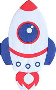Outer Space Party Napkins - 50 Pack Spaceship Rocket Shaped 3-Ply Disposable Paper Party Napkins 4.6