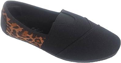 Canvas Slip-on Flat Shoes Black