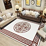 Extra large chinese style Decorative rugs,chinese style Simple Carpet,Rectangle Crystal velvet For bedroom living room Restaurant bedside blanket Crawling mattress tatami-C 80x120cm(31x47inch)
