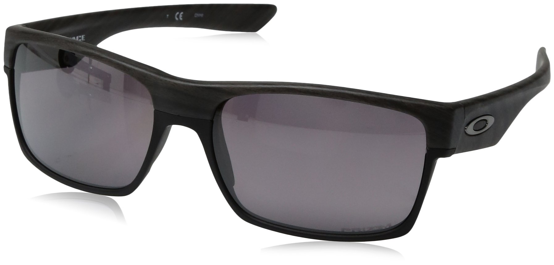 Oakley Men's OO9189 TwoFace Square Sunglasses, Woodgrain/Prizm Daily Polarized, 60 mm