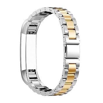 Bracelet Fitbit Alta HR, Bracelet Fitbit Alta Rosa Schleife®Montre Connectée Bracelet Femme Metal Fitbit ...