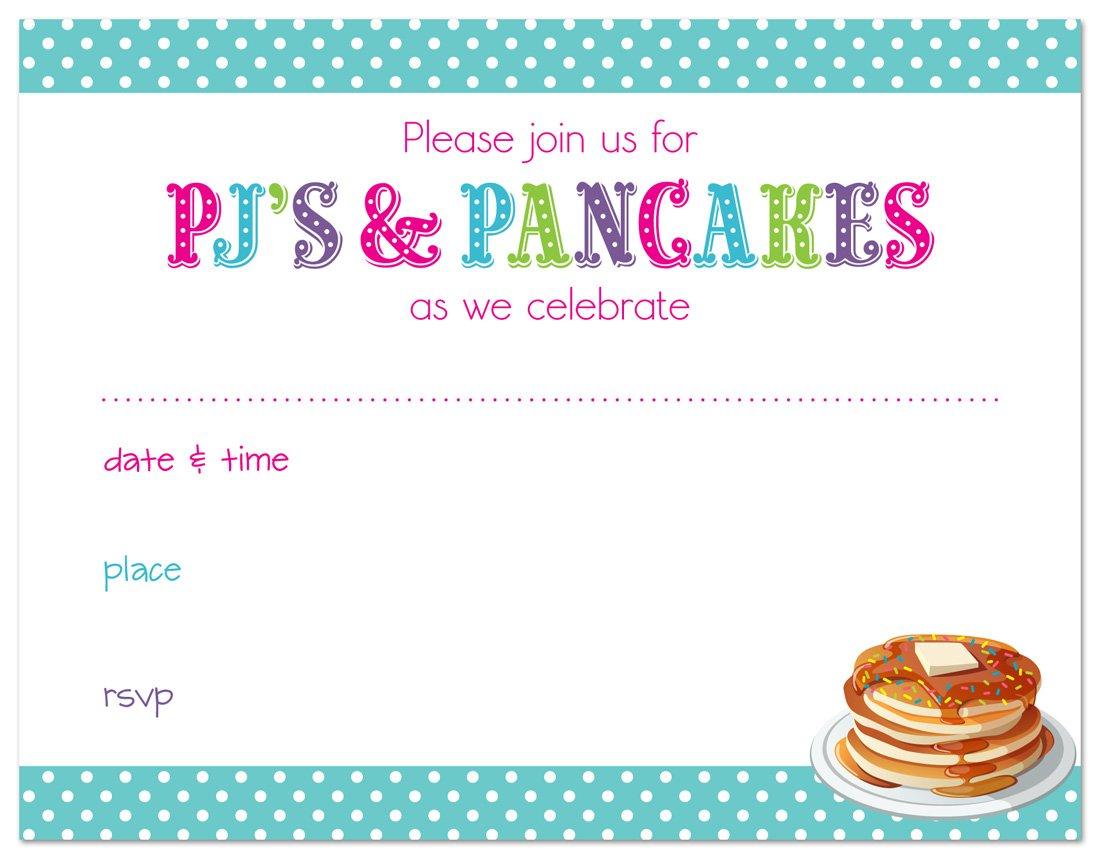 Amazon.com: 24 cnt Pajamas and Pancakes Fill in Kids Birthday ...