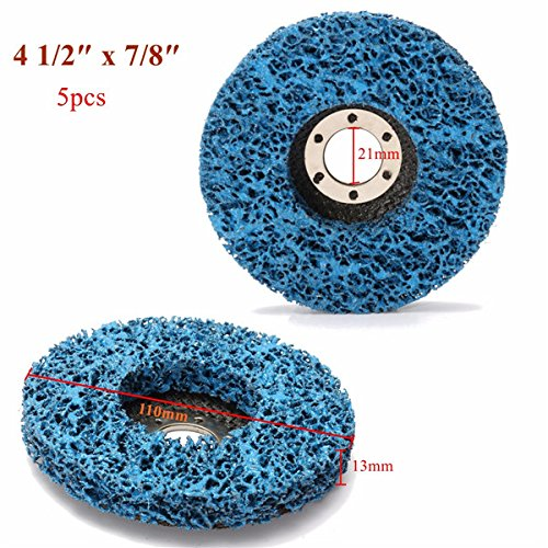 CynKen 5pcs 110mm Polycarbide Abrasive Stripping Disc Wheel Rust And Paint Removal Abrasive Disc by CynKen (Image #6)