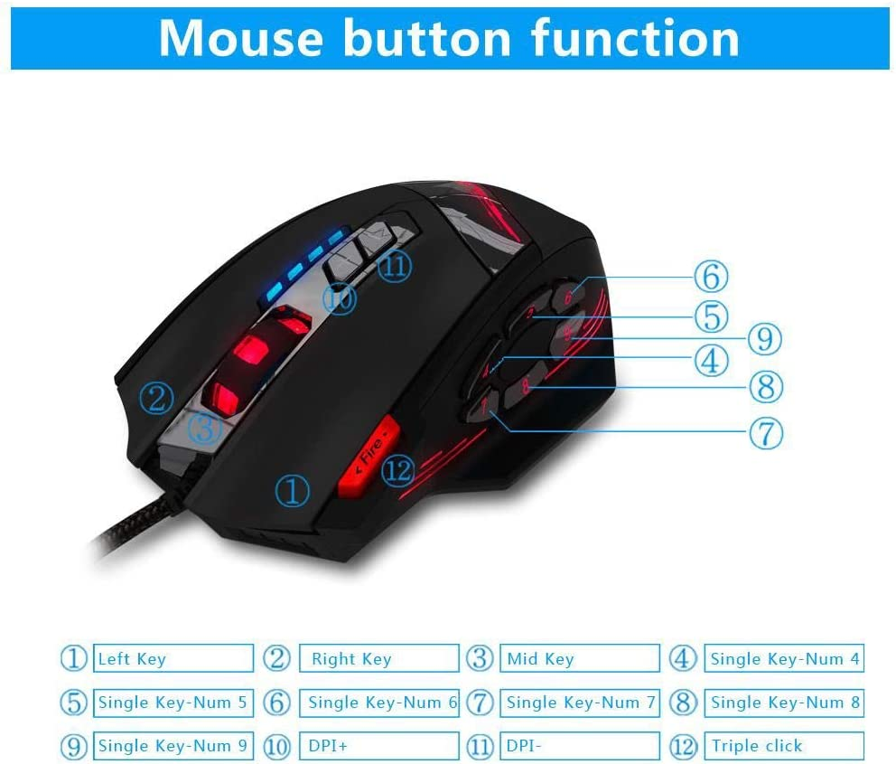 XUMINGSB 2019 Professional Mouse Favorite Collection Series Technology programmable 4000 DPI LED Optical USB Mouse Game Player Sem Fio Mouse