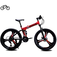 B-D Bicicletas Plegables Estudiante Unisex Bicicleta de Montaña Plegable, Marco de…