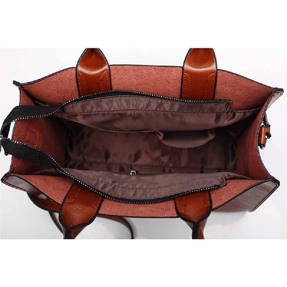 YUNYUE Eine Ledertasche Aus ÖL, Eine Neue, 2019, Eine Neue Handtasche, Eine Tasche Aus Europa Und Mode, Eine Handtasche. Pink