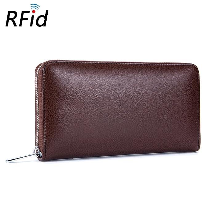 Amazon.com: Cartera de piel para tarjetas de crédito, RFID ...