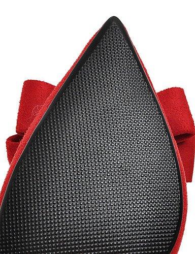 Mujeres Punta 5 Uk8 Black Zapatos Uk4 Del Tac¨®n 5 Red Eu42 Cn36 De Cn43 us6 Eu36 Pie Talones Aguja us10 La En Las Boda Novedad Dedo Zq wOTqXBT