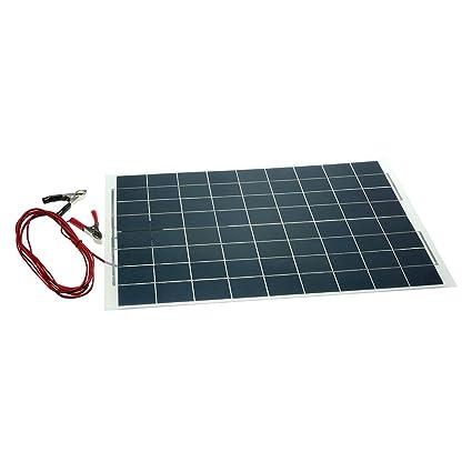 KKmoon 30W 12V Panel Solar Semi Flexible Cargador de Bateria ...