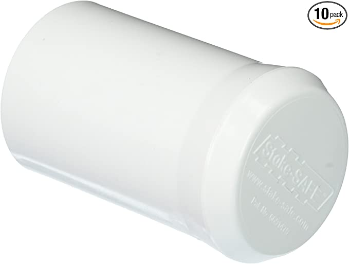 White T Post Safety Cap Insulator 10 Per Bag Industrial Livestock Supplies New