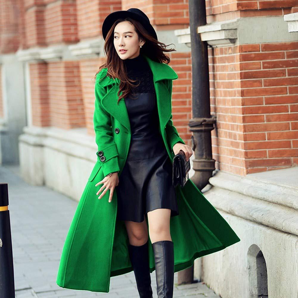 ... EGCRA Cappotti Cappotto Lungo Doppiopetto Donna Cappotto Reversibile Autunno  per Inverno per Autunno Ragazze 51388c7b4e7