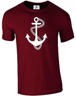 Anchor Sailor Nautical Retro Tattoo Sea Captain Ship Tshirt Unisex (Anchor 47b6b1631d45