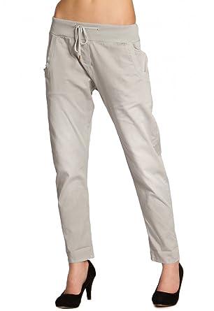 c57bdc490f63 Caspar KHS028 Pantalon de Jogging Stonewashed en Coton pour Femme ...