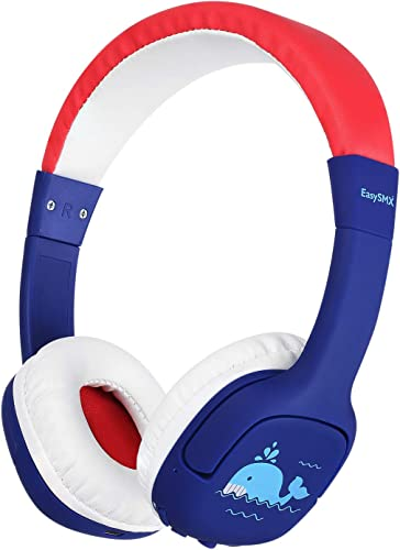 EasySM Kids Bluetooth Headphones, Safe Volume Limited 85dB Kids Headphones Wireless, Stereo Sound Wireless Headphones for Boys Girls Children Computer Cell Phones Tablet School Game Red