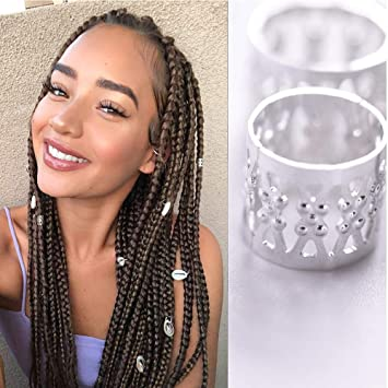 Amazon Com Alileader 100pcs Gold Hair Clips Dreadlock Accessories Hair Beads For Braids For Women Hair Jewelry For Women Braids Hair Accessories For Braids Hair Cuffs Hair Jewelry For Locs Silver