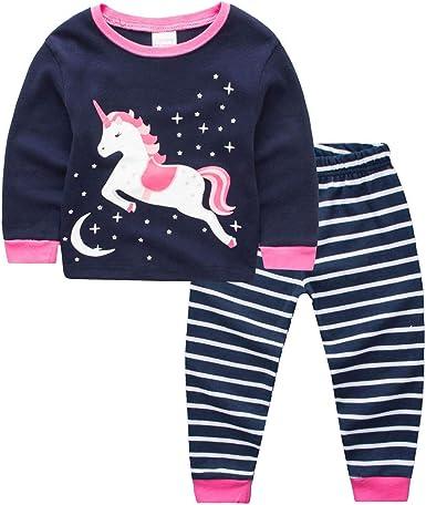 Pijama para niñas y niños, 100% algodón, pijama, camiseta, camiseta, pantalones cortos y pantalones para bebé, lindos pijamas, pijamas de Navidad, ropa de dormir de 1 a 7 años: Amazon.es: Ropa y accesorios