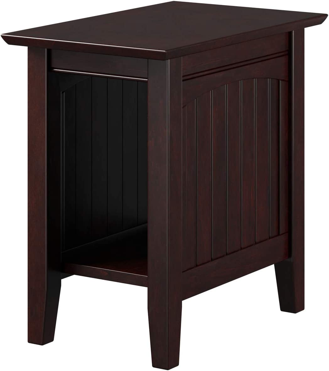 Atlantic Furniture Nantucket Chair Side Table, Espresso