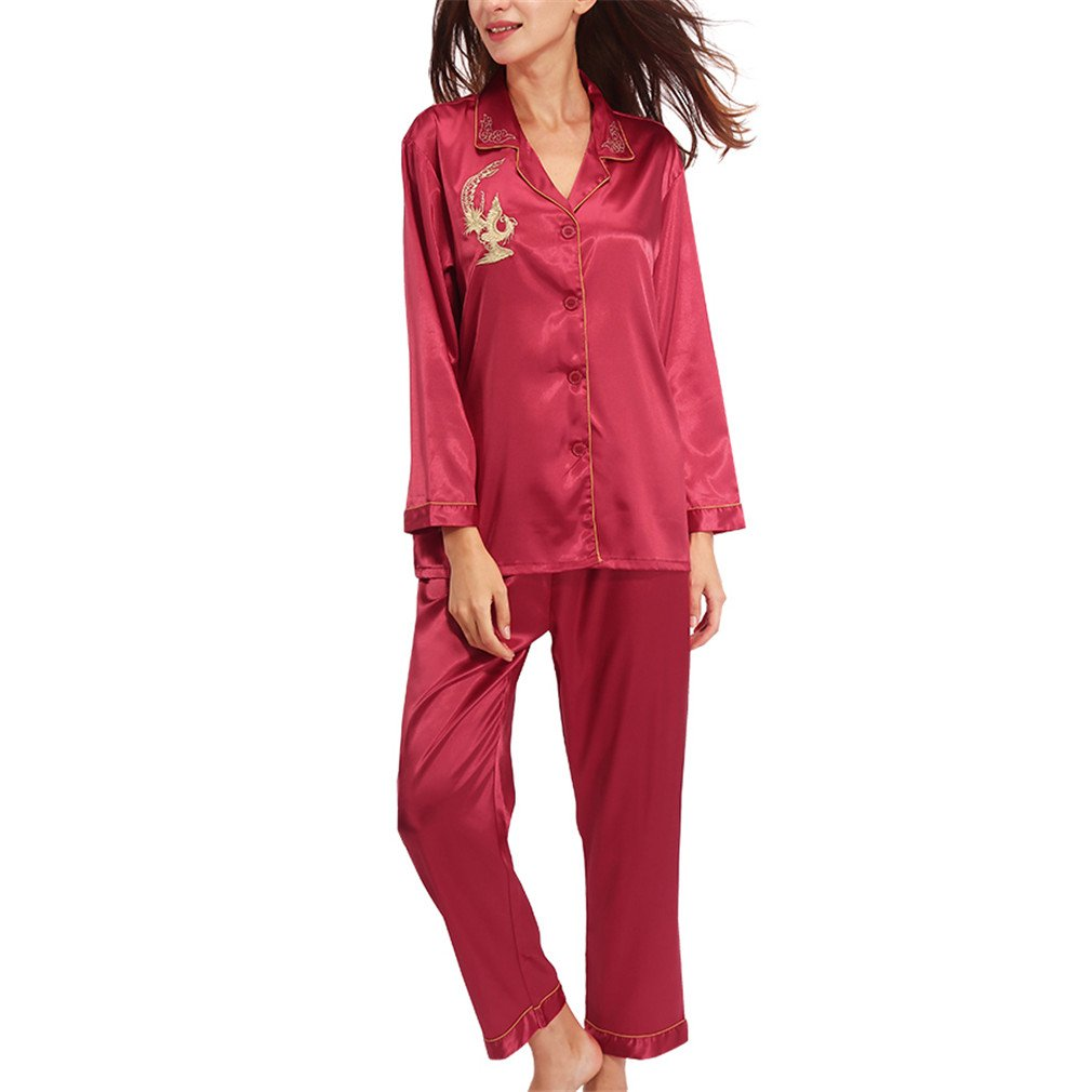 Pajamas Women Long Sleeve Solid Pyjamas Men Love Sleepwear Womans Lounge Couples Pajama Sets Pijama Mujer Red XXL at Amazon Womens Clothing store: