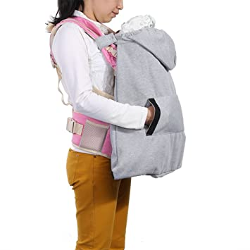 zicac cover for baby carrier infant hoodie universal all season freestyle carrier cover gray - Carrier Cover