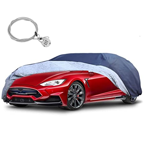 Car Cover Car Cover Waterproof Car Cover UV Protection All Weather Dustproof and Windproof Outdoor Compatible with Lexus ES Color : Blue, Size : Single Layer Full Car Covers