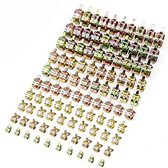 100 X 10 Different Size 6-22mm Car Fuel Oil Water Hose Pipe Tube Clamp Fasteners