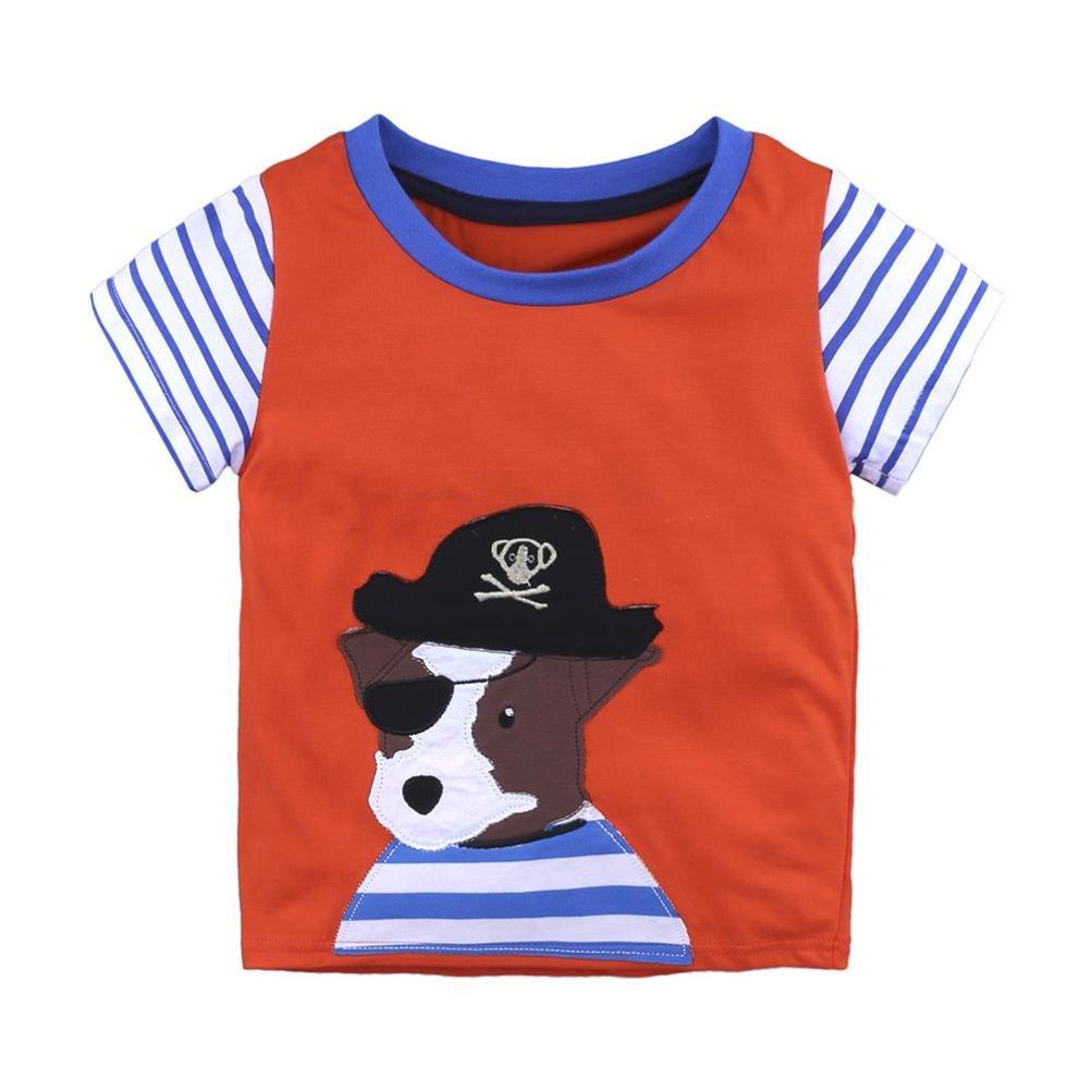 Staron Kids Toddler Summer Clothes Tops Baby Boy Girls Cartoon T Shirts Tops Outfits