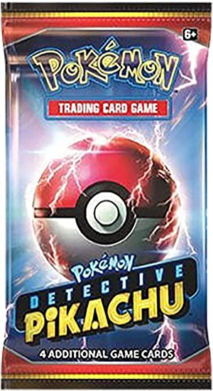 Detective Pikachu Exclusive Booster Pack 4 Cards All Holo