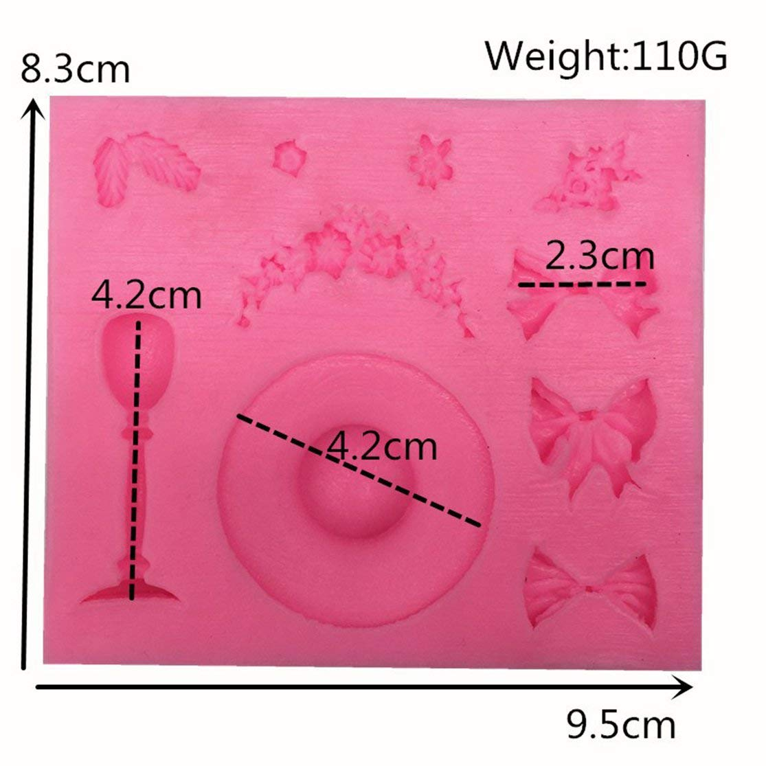 1Pcs DIY Creative New Straw Hat Silicone Cake Mold for Cakes Baking Tool