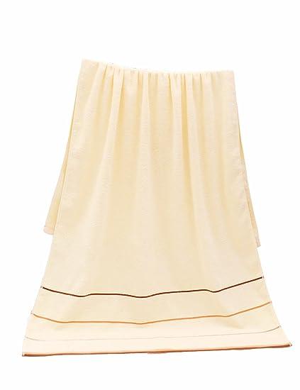 Toalla de baño de toalla de algodón simple absorbente toallas de baño grandes 140 * 70cm
