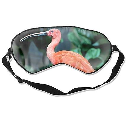 Máscara para dormir de pájaro rojo de pie en un panel de metal, máscara para