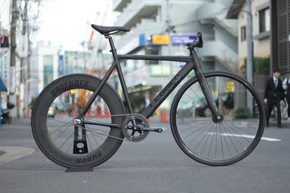 LEADER BIKES リーダーバイク CURE SHRED REAR CUSTOM BIKE キュア シュレッド リア カスタムバイク B01D1DJLHA Large|BLACK BLACK Large
