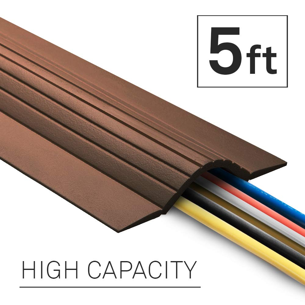 Brown UT Wire 15FT Cable Blanket High Capacity Low Profile Cord Cover and Wire Protector