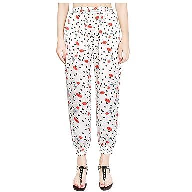 Sylar Pantalones Mujer Cintura Alta Elastica, Moda Impresión ...