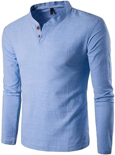 Camisa De Hombre para Hombre Super Solid Print V Sweater Ropa con Cuello En V Manga Larga Camiseta Slim Fit Elegante Top Business De La Blusa: Amazon.es: Ropa y accesorios
