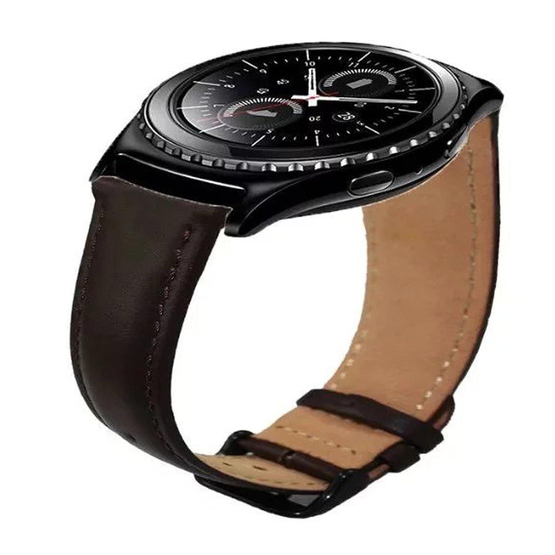 kingloo 20 mm高級本革時計バンド手首ストラップfor Samsung Galaxy Gear s2 Classic ブラウン  ブラウン B0775W2PS4