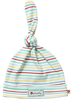 Piccalilly Organic Cotton Multicoloured Striped Unisex Baby Knot Hat fd21eaa227a2