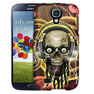 Samsung Galaxy S4 Case, Slim Fit Snap On Cover by Trek Music Head Skull Case