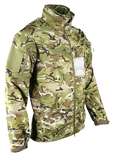 5812758088d86 Zip Zap Zooom Mens British Army Combat Military Waterproof Nylon Hooded Rain  Jacket Camo Smock (