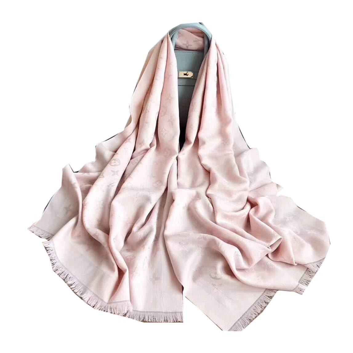 Mintrayor Fashion Luxury Cashmere/Wool Scarf Pink Warm Large long Scarves for Women Men(70.9''x27.6'') by Mintrayor
