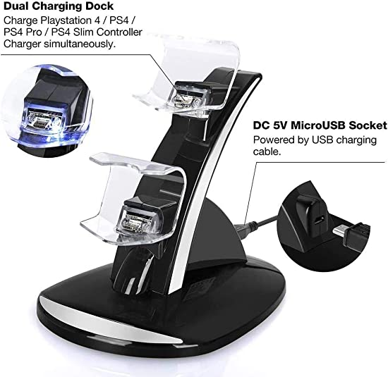 USB Charging Stand PS4 Double Charging Bracket for PS4 Handle Stands