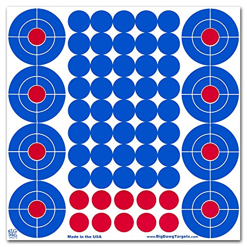 Big Dawg Targets - 25 Pack (540 Dots) - Blue Cover-up Splatter Patches