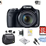 Canon Powershot SX530 HS 16MP Wi-Fi Super-Zoom Digital Camera 50x Optical Zoom Ultimate Bundle Includes Deluxe Camera Bag