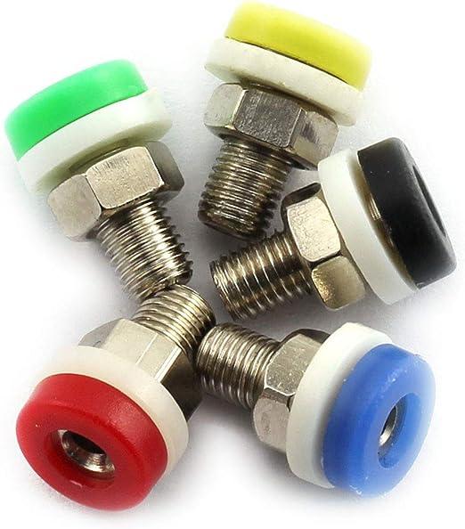 10Pcs 2mm Binding Post Banana Jack Plug Socket Panel Mount Test Probe Yellow