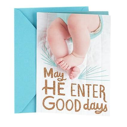 amazon com hallmark tree of life baby boy greeting card boy feet