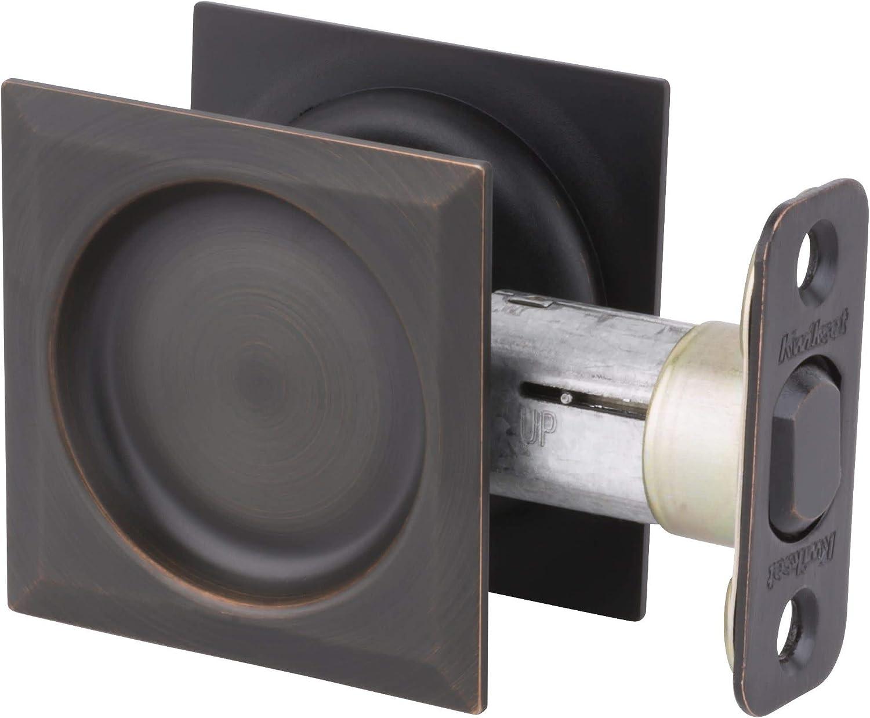 4 Pack Kwikset Notch Hall and Closet Sliding Door Pocket Lock Antique Brass