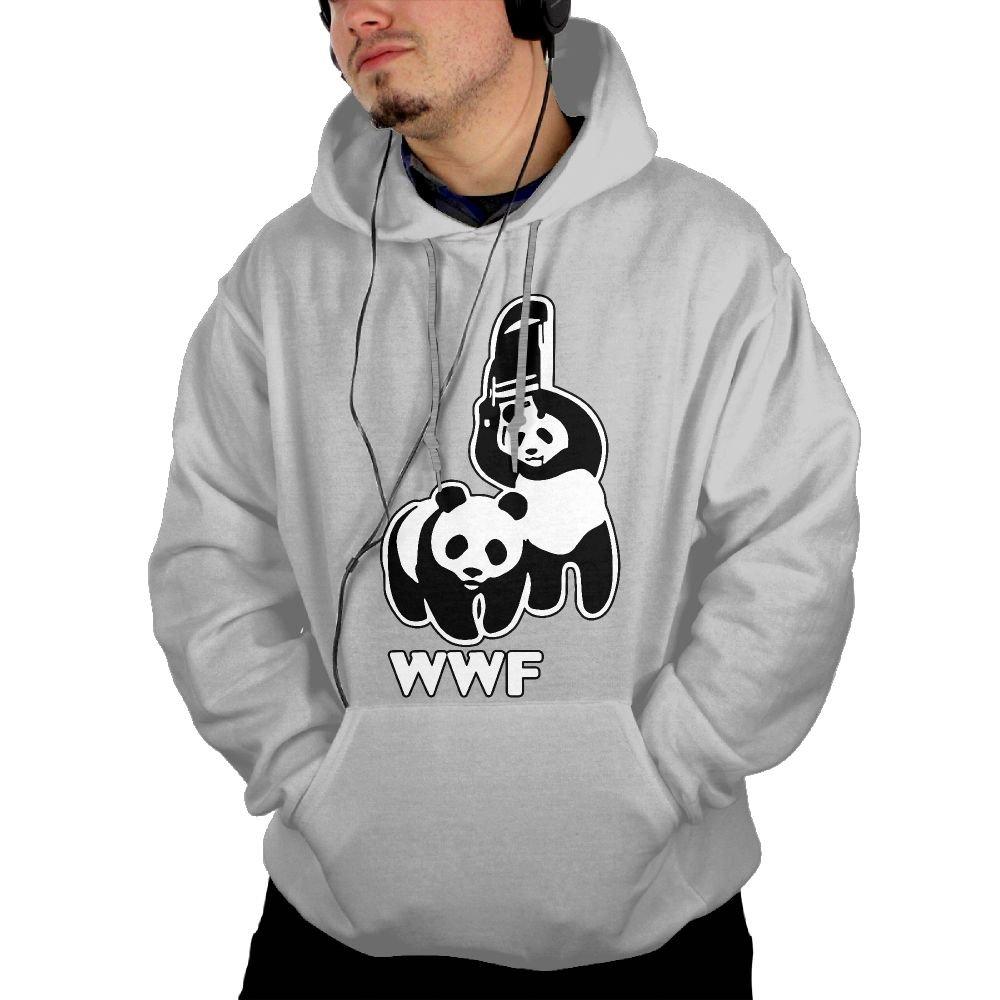 Okb-7 Men's Hooded Sweatshirt With Pockets WWF Funny Panda Bear Wrestling Sport Outwear Jackets
