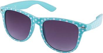 """SIX """"Trend Retro Sonnenbrille in türkis mit weißen Polkadots (324-244)"""