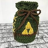 Link Inspired Rupee Bag, Handmade Crochet Drawstring Bag